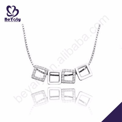 Beautiful girls love sterling silver fashion cheap initial necklaces