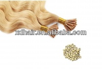 Stick tip hair 50 pcs incl. microrings #24 wave