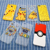 2016 new hot selling cartoon soft tpu oem pokemon phone case for iphone 6 / 7