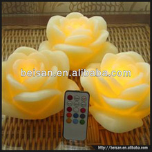 LED color changing wedding flower decorative colorful candle