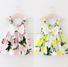 Summer Girls New Image Mini Girls Dress Names With Pictures Fruit Sleeveless Dresses
