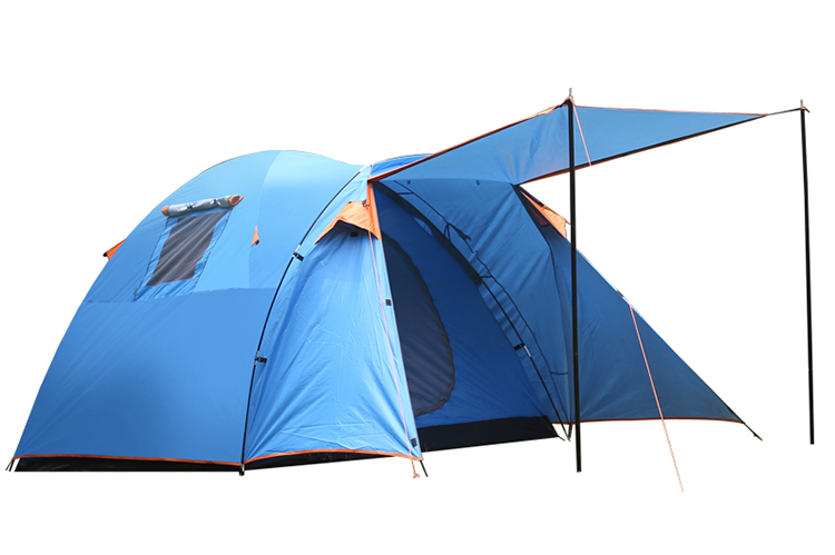 Durable 3-4 people outdoor camping family tent