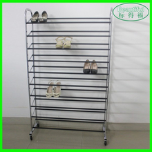 China Factory Chrome Finish Floating 10 Tiers Shoe Display Rack/Tower