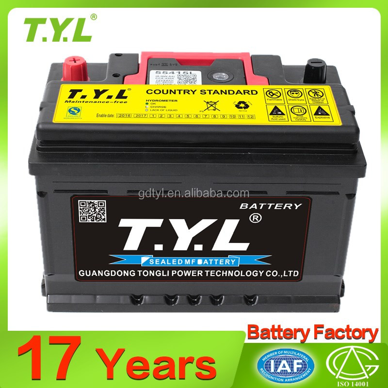 High quality 12V 54ah car battery automobile for vehicle truck bus lorry batteries