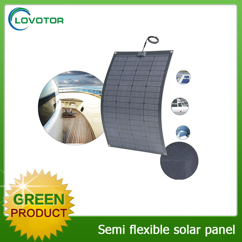 Portable 100W flexible solar panels USB charger for home use