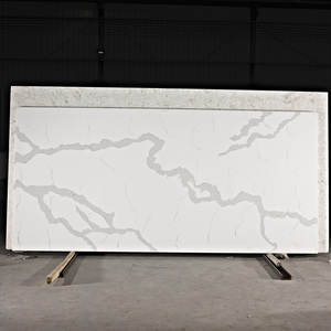 Calacatta Gold Series Marble Quartz Stone Engineering Slab with Price
