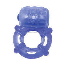 Adult sex toy male cheap rubber strong vibrating penis delay cock ring for men