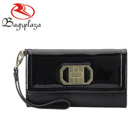 WA9050 New prodcuts PU black wristlet clutch purse wallet design your own wallet