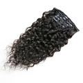high quality 120g/set 8pcs cheap human hair extensions with clip