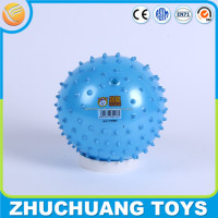 10cm custom logo print rubber inflatable spiky massage ball toys for kid