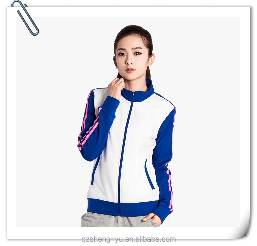 bright color training and jogging sports tracksuit for women
