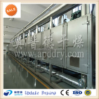 Factory price of vegetable and fruit multi-layer mesh belt dryer