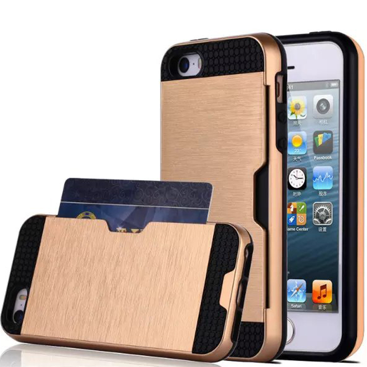 Armor Cover wire drawing shockproof case for iphone 5s case Buy wholesale from China