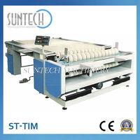 Table Fabric Inspection Winding Machine, roll up textile machine from china factory