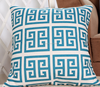 2015 China factories supply alibaba sale fashion soft 100% cotton blue line new design throw pillow with cover