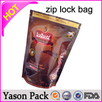 Yason plastic colored zipper bags 2g empty botanical ziplock bags 3 layers(pet/vmpet/pe) zipper/ziplock