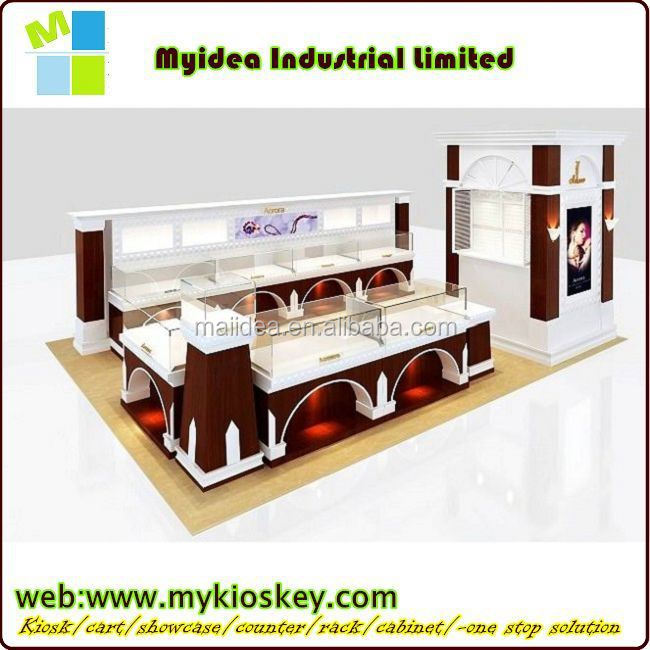 Marvelous retail store design high end Metal jewelry kiosk
