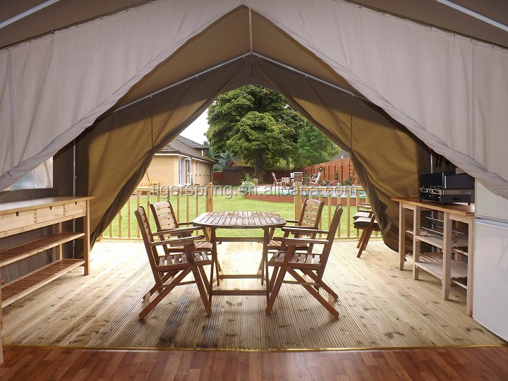 Spacious comfortable large canvas outdoor glamping tent