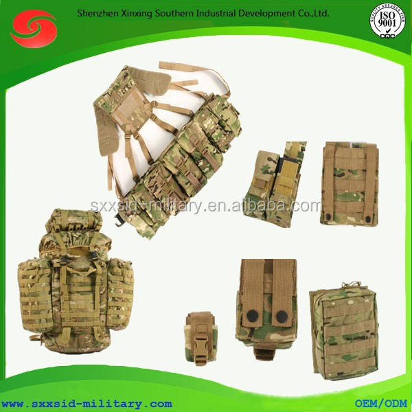 Large capacity Molle system British military camouflage backpack with York system