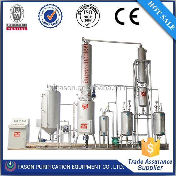 Quality primacy 95% oil refine waste diesel oil distillation machinery