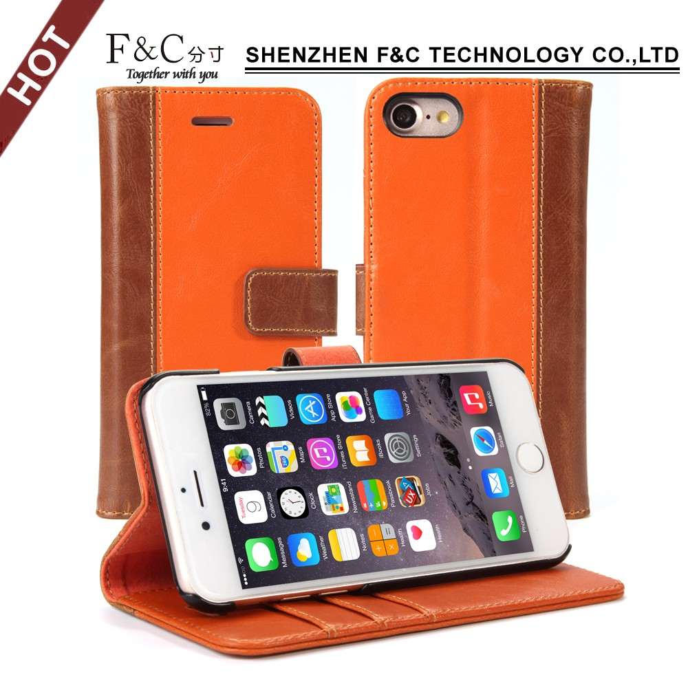 new model wallet cover for iphone 7 magnetic phone case with kickstand feature