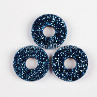 Agat druzy,titanium blue druzy drusy cabochon from China D024