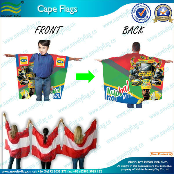 promotion flag cape and pashmina flags