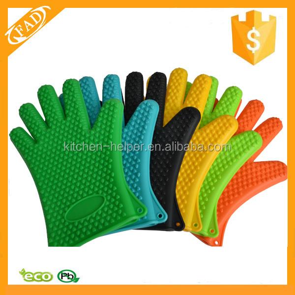 Caliente venta durable de silicona resistente al calor guantes de horno de microondas manoplas - Silicona para microondas ...