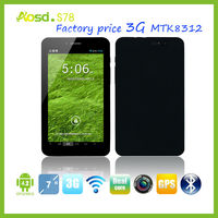 3g china phone android tablet pc 7 inche 3g sim slot mtk8312 android tablet pc g sensor games S78