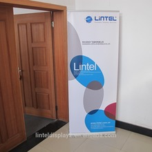 new design wide base outdoor banner stand with telescopic pole