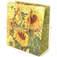 Sunflower Paper Bag Packaging For sale