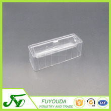 Multiple clear blister disposable cosmetic tray