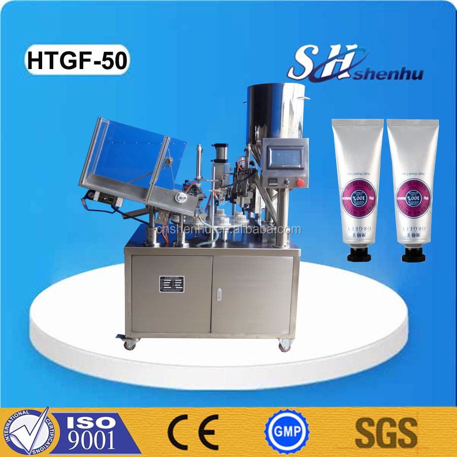 CE approved automatic plastic tube filler sealer machine for hand cream