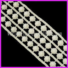 Wholesale Sewing Water Dissolving Embroideried Swiss Dot Lace Trim WNL127