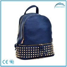 Fashion PU leather with rivets bag backpack,backpack leather,backpack school