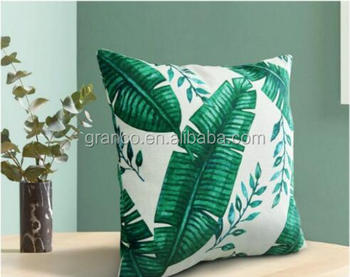 2018 leaves digital printing decoration cushion
