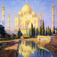 taj mahal paintings large framed canvas art canvas