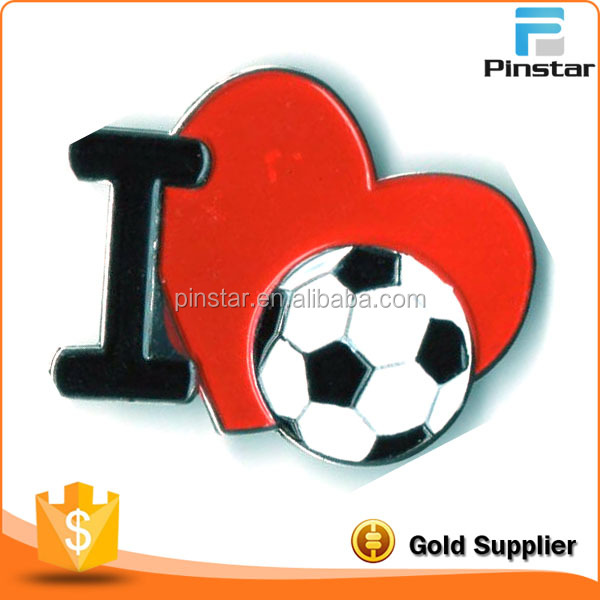 I Heart Love Soccer 1 in Collectible Lapel Pin BRAND NEW