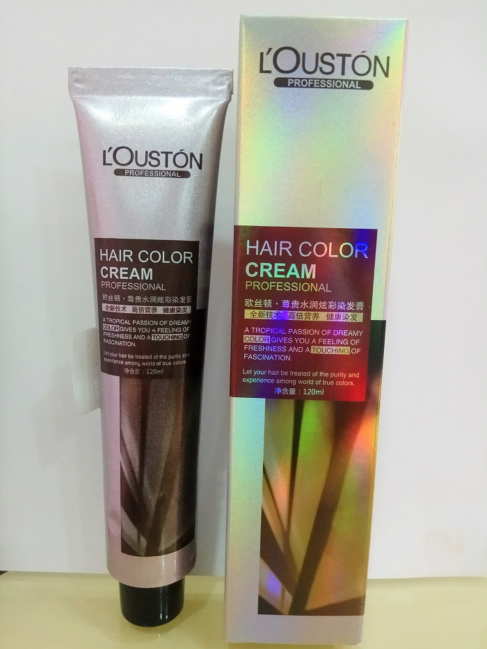 53 colors permanent type professional hair color cream blue,violet,ash grey,brown
