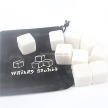 Yiwu Top Sale Wine Whiskey Stones Marble Ice Cube Stone White Customized Marble Whiskey Stone For Wholesale