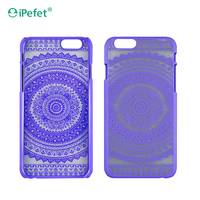 Phone Accessories Mobile Mandala Design Printing Slim PC Back Cover Case for iPhone 6