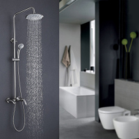 Popular Brass Chrome Wall Mounted Bathroom Bath Shower Faucet