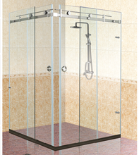 KM-1300 modern design frameless glass stainless steel shower room enclosure