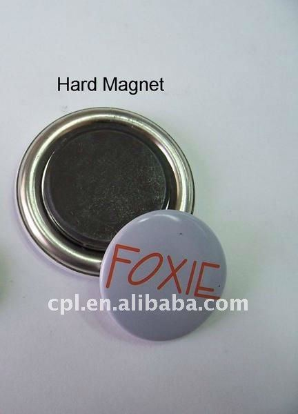 OEM custom design metal tin button with hard magnet/ fridge magnet