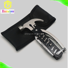Stainless Steel Mini Multifunction Claw Hammer with Keyring