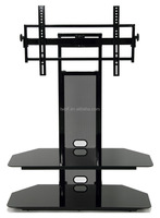 BEST BUYER Modern cheap 2 tiers clear glass plasma tv stand / tv cabinet TW051