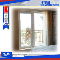 pvc casement large glass window price for sale