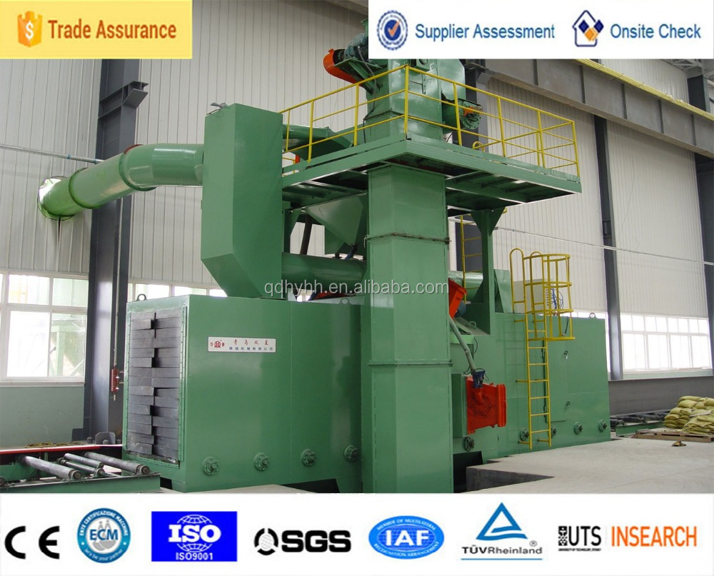 CE approved used for industrial automatic blast cleaning equipment shot blasting machine