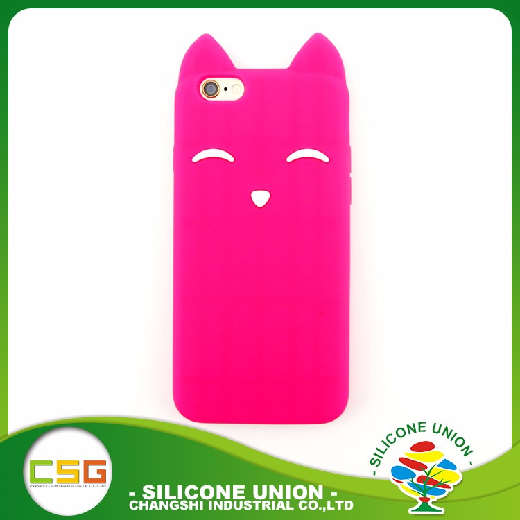 cute animal shaped silicone cell phone case