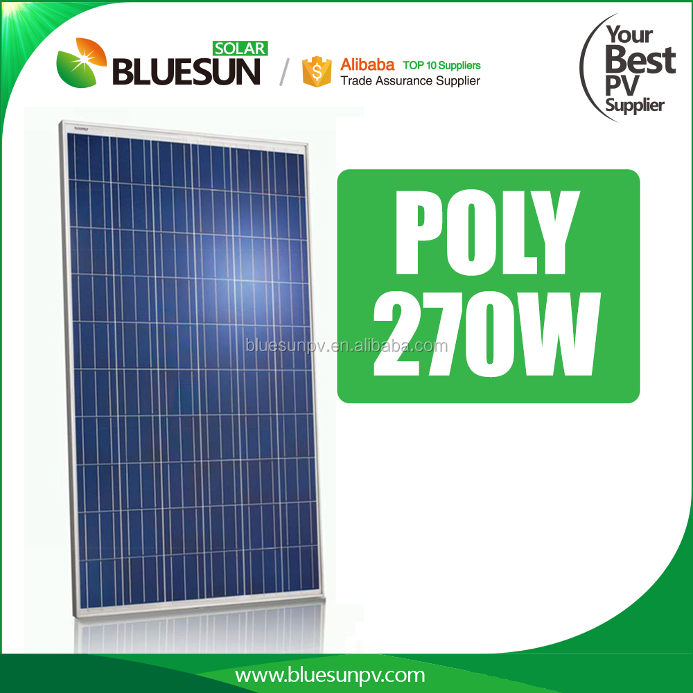 Bluesun grade a polycrystalline 270w solar panel wholesale china